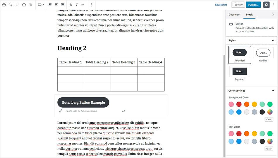 WordPress 5.0 Gutenberg Editor - Adding Call To Actions