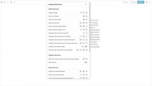 WordPress 5.0 Gutenberg Editor - Keyboard Shortcuts