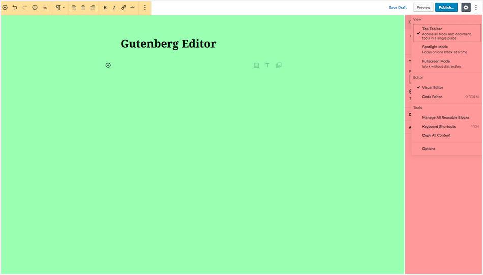 WordPress 5.0 Gutenberg Editor - View Modes