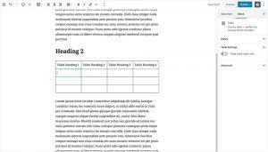 WordPress 5.0 Gutenberg Editor - Inserting Tables