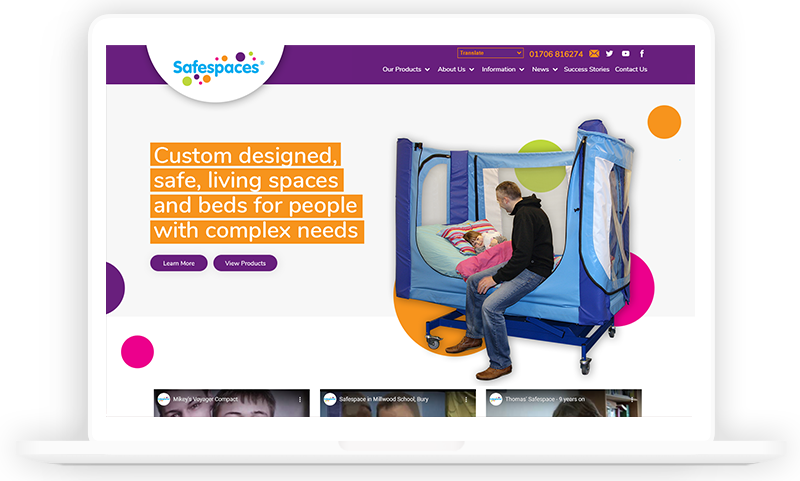 Safespaces Manufactoring Website design by Urbansoul Design