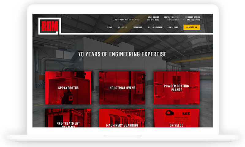 RDM Engineering Manufactoring Website design by Urbansoul Design