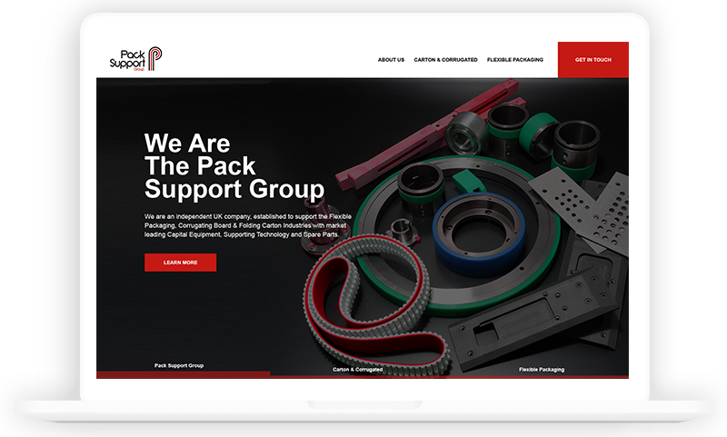 Pack Support Group Manufactoring Website design by Urbansoul Design