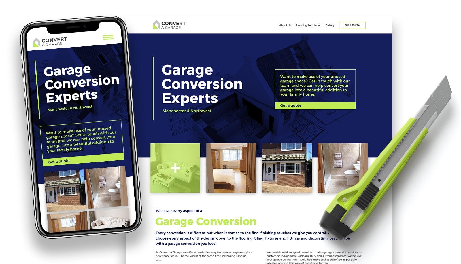 Convert A Garage responsive website design and branding