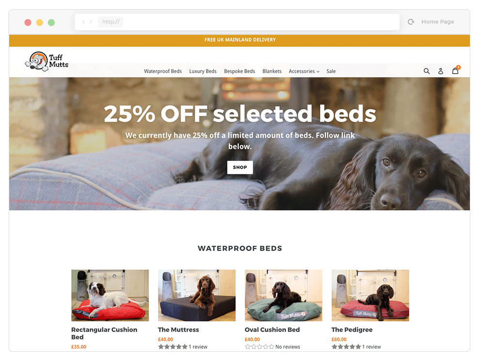 Tuff Mutts Ecommerce Web Design Example