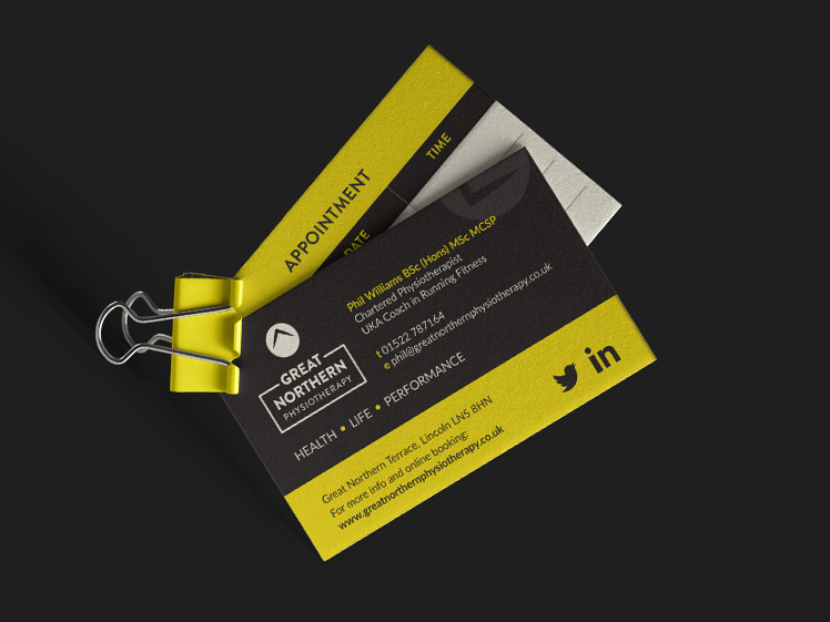 Great Northern Physiotherapy Business Card Design