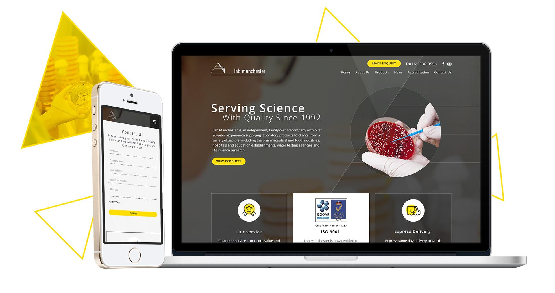 Lab Manchester Responsive Web Design Showcase