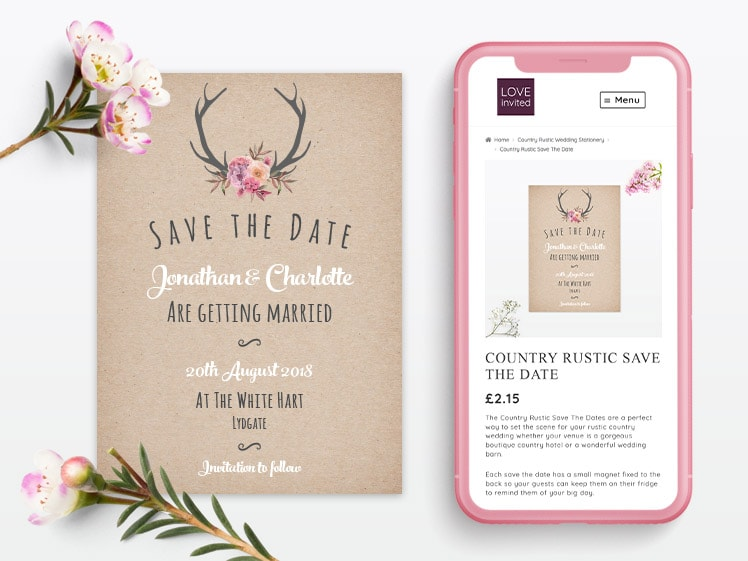 Love Invited Mobile Website and Stationery