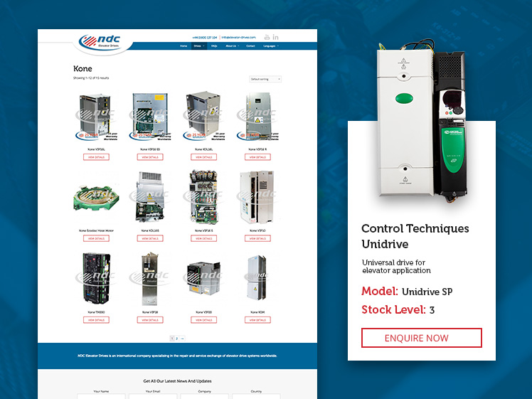 shop section of NDC website