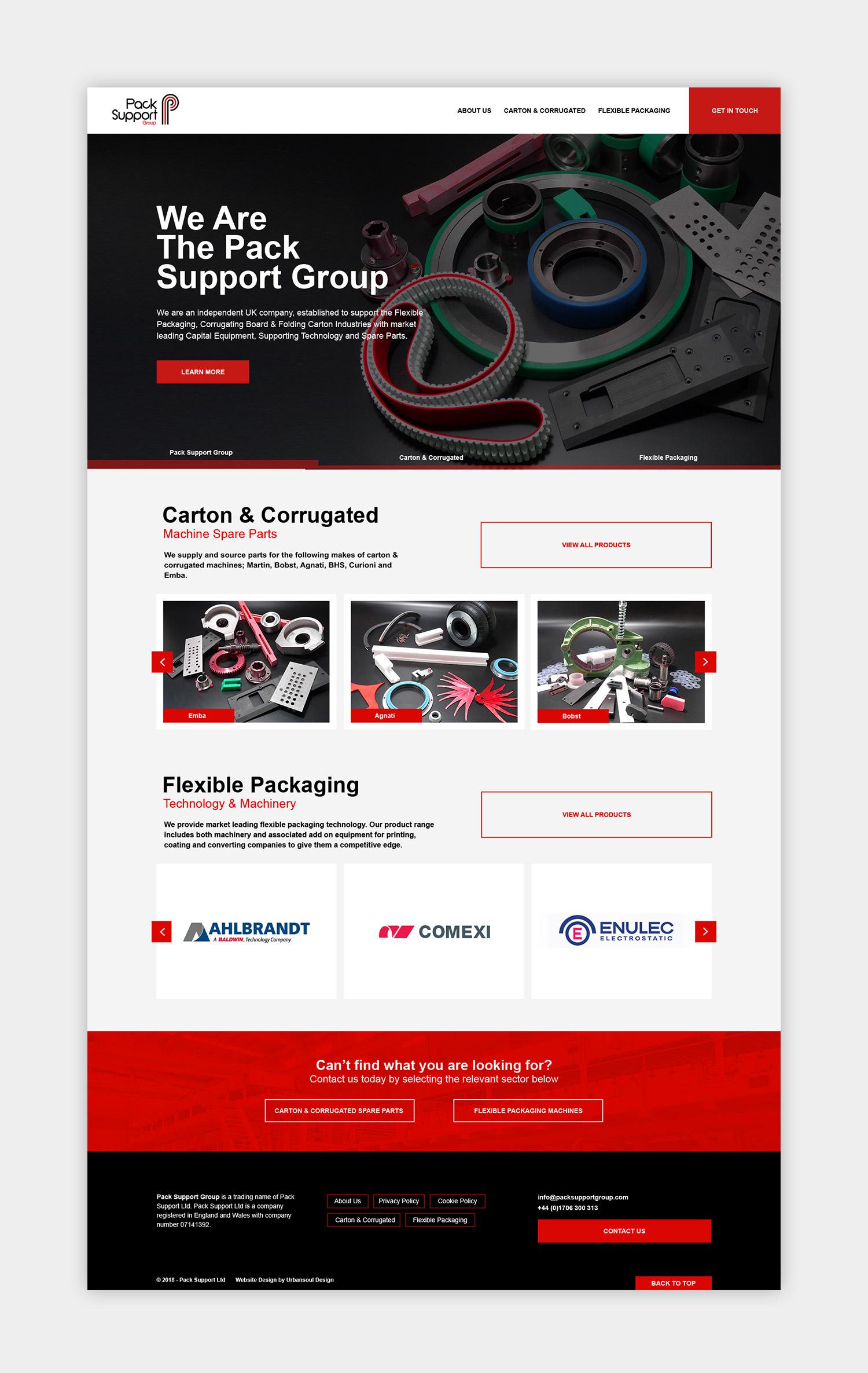 Pack Supoprt Group full website design