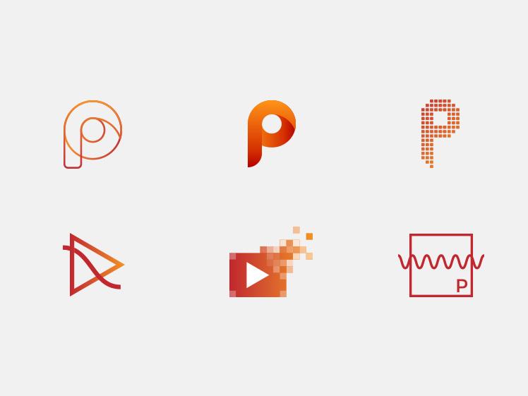 Pixelwave Creative Logo Design Development
