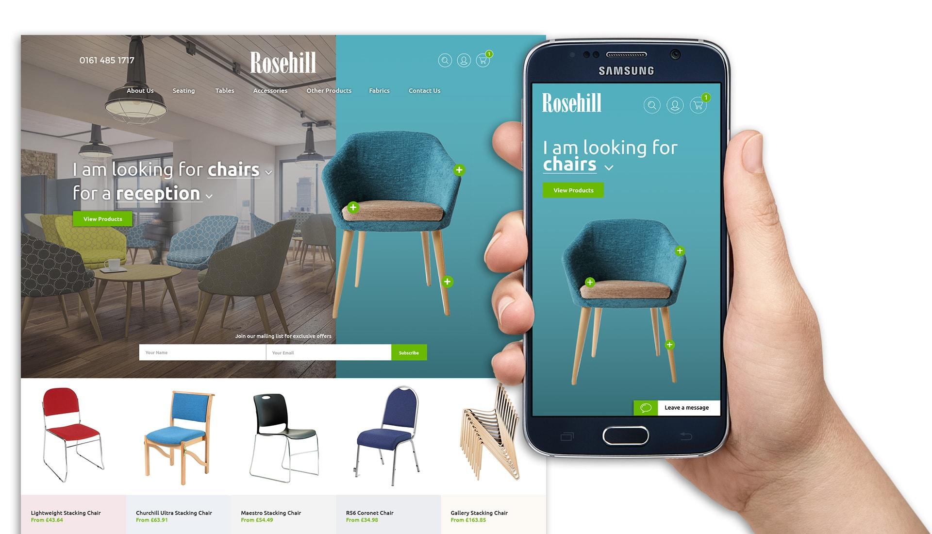 WordPress Web Design Showcase - Rosehill Furniture Website