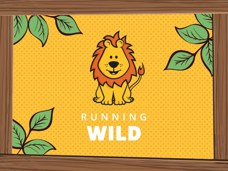 Running wild logo - Cartoon Lion