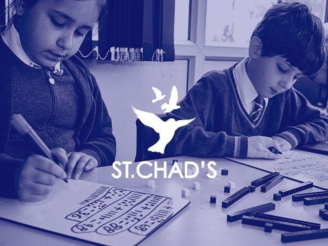 Children doing Maths at St Chads School