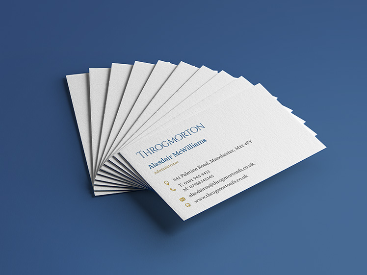 Throgmorton Business Card Design and Print