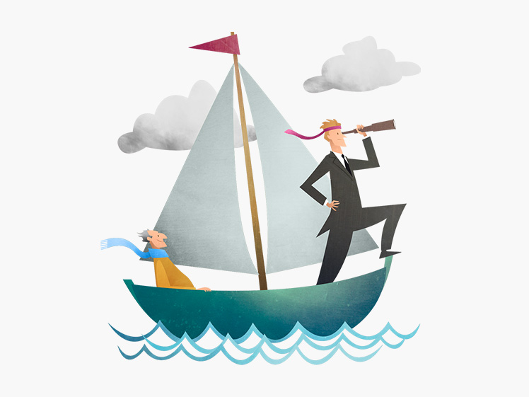 Mark Bird illustration Navigating you through the ever-changing sea of pension legislation