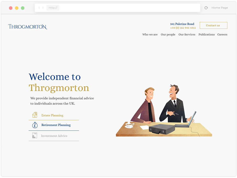 Throgmorton Web Design Example